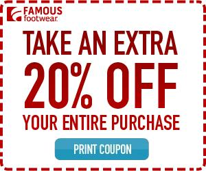 Famous footwear printable coupons may 2019