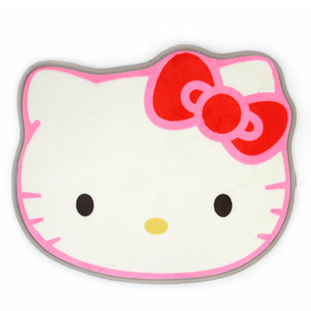 Amazon Has A Great Price On This Hello Kitty Area Rug! Go HERE To Order Hello  Kitty Die Cut Face Shape Area Rug 30 X 25 Inches ...