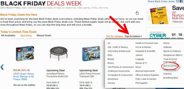 how to search amazon lightning deals