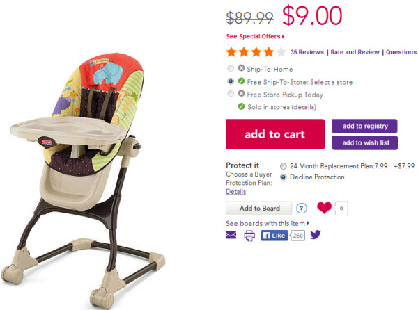 Toys R Us Baby High Chairs