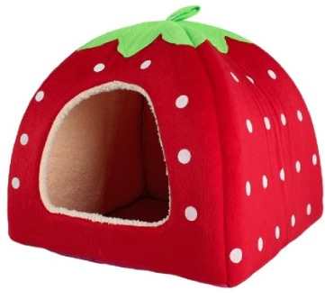 Adorable strawberry cotton soft dog bed house just for Where can you buy beds