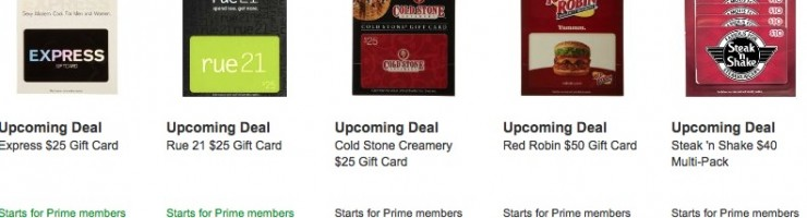 *HOT* Amazon Lightning Deals on Gift Cards (Express, Cold Stone, Red Robin, and more)