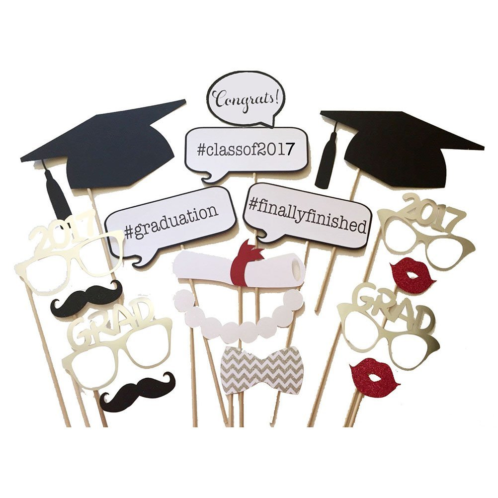 Graduation Photo Props 17-Piece Set