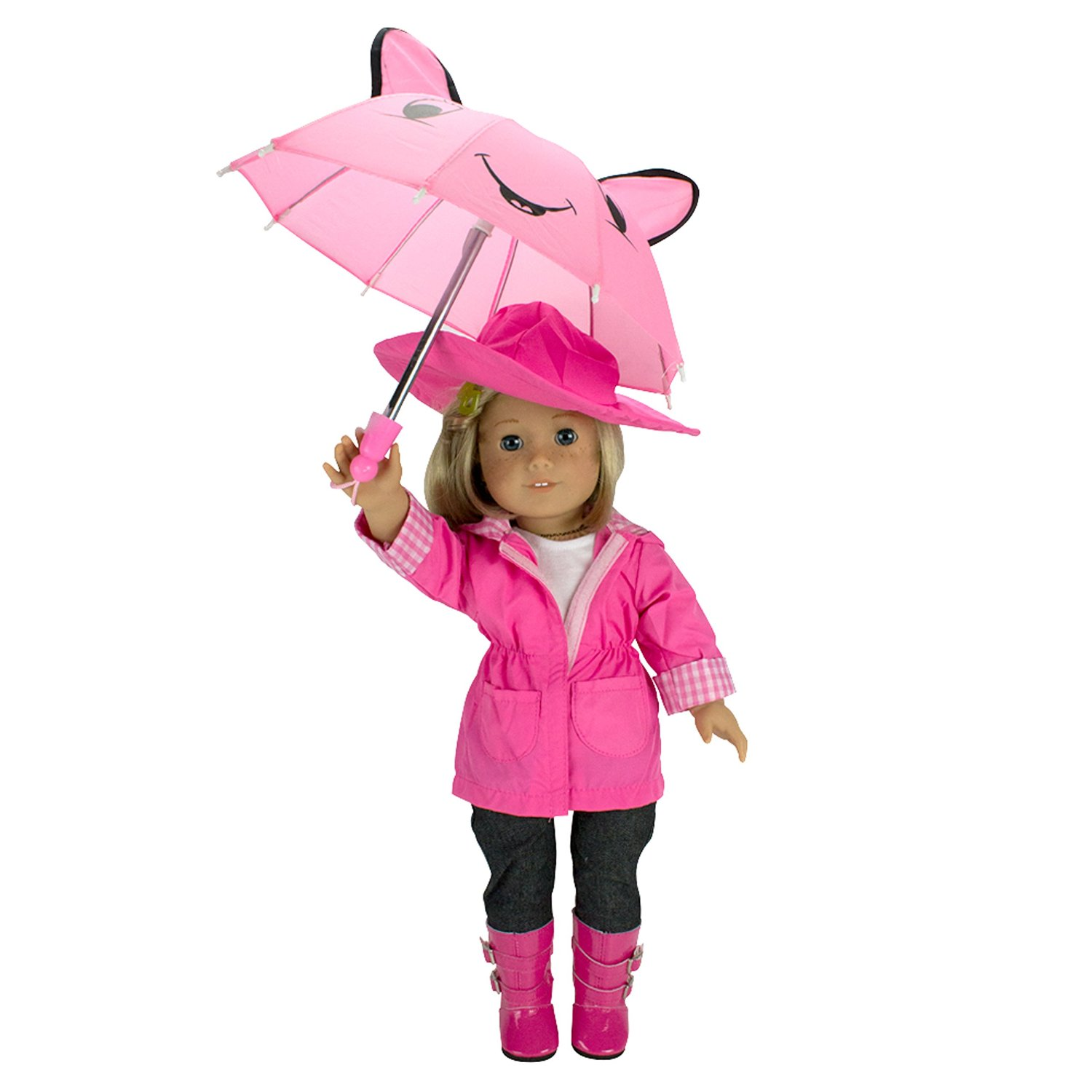 Cute 6 Piece Rain Outfit For 18 Inch Dolls Only 18 95