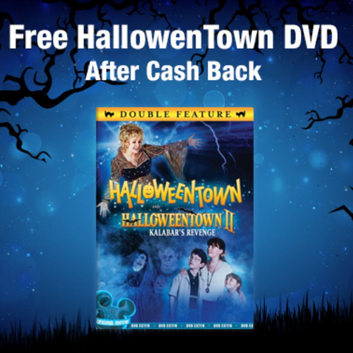 this deal is perfectly timed with halloween or hang onto it and use it as a christmas stocking stuffer right now we can get the halloweentown dvd
